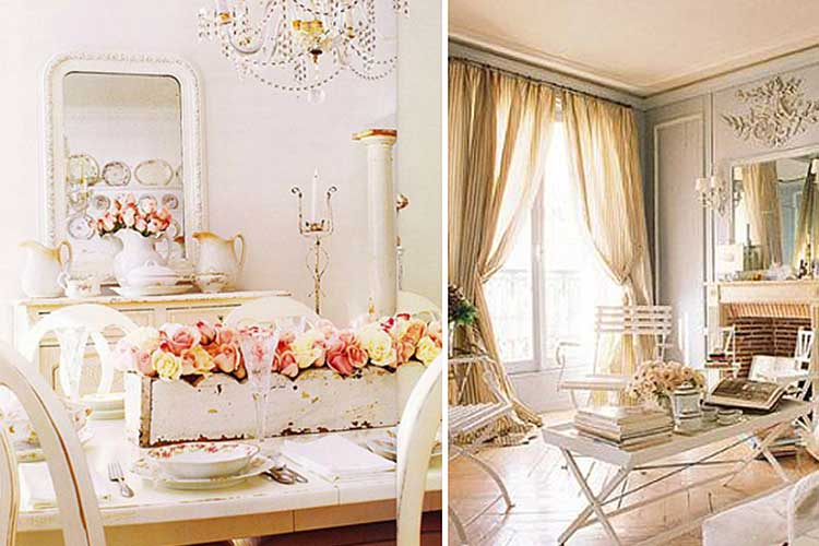 Decoración estilo shabby chic
