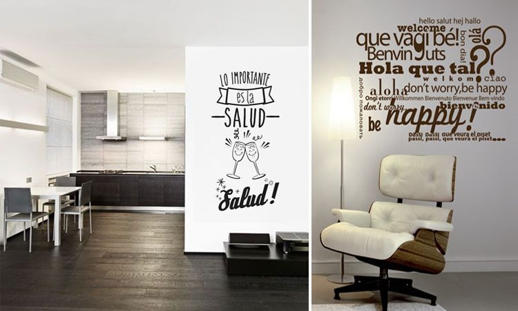 Decorar con tipograf a vinilos for Decoracion de interiores frases