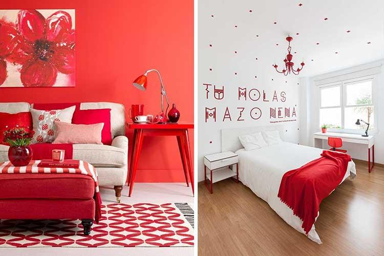 Decoración habitaciones en rojo