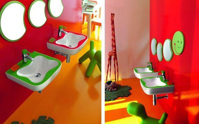 Baños Infantiles Agatha Ruiz De La Prada: en colores vivos  Diseños como los de Agatha Ruiz de la Prada, entre