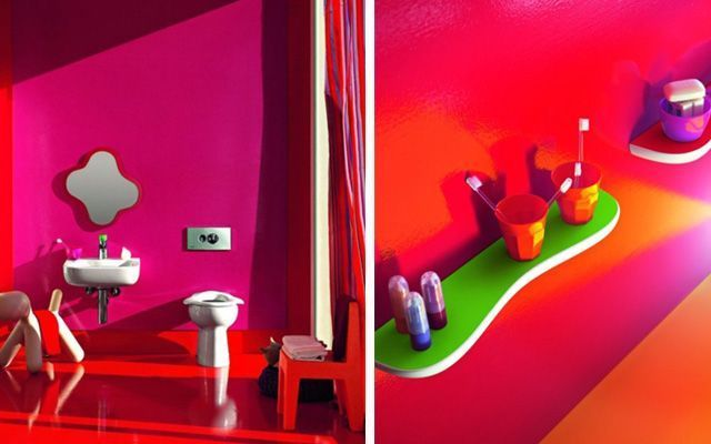 El Baño Cuento Infantil:Baños infantiles en colores vivos