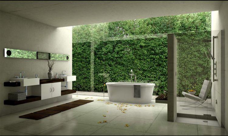 Unos baños para disfrutar del paisaje.