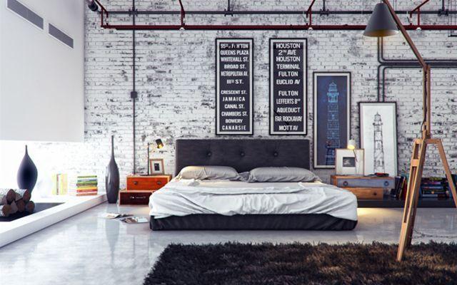 Decoración de dormitorios - Estilo industrial