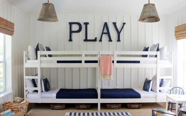 decoración de dormitorios para familias numerosas
