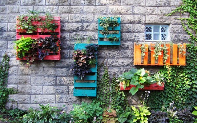 Decoración con pallets - Maceteros