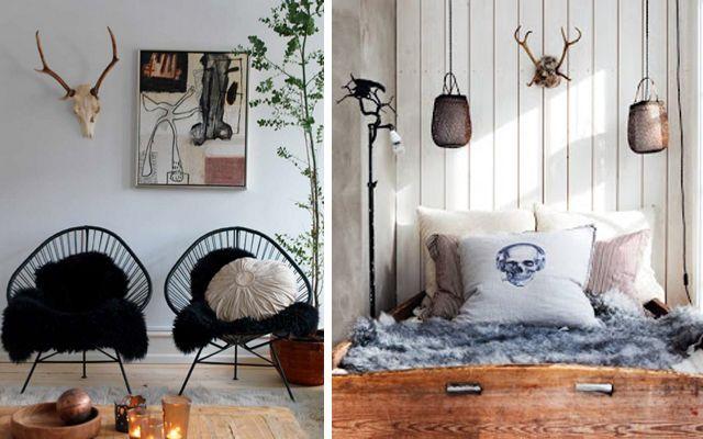 Decorar paredes con cabezas de ciervo - Cabezas de animales decoracion ...