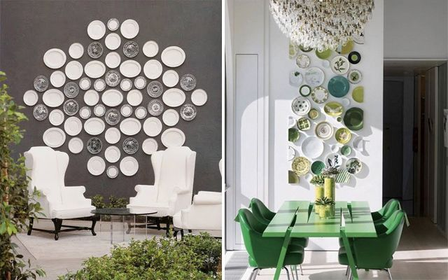 Decorar paredes con platos - Ideas para decorar paredes con fotos ...