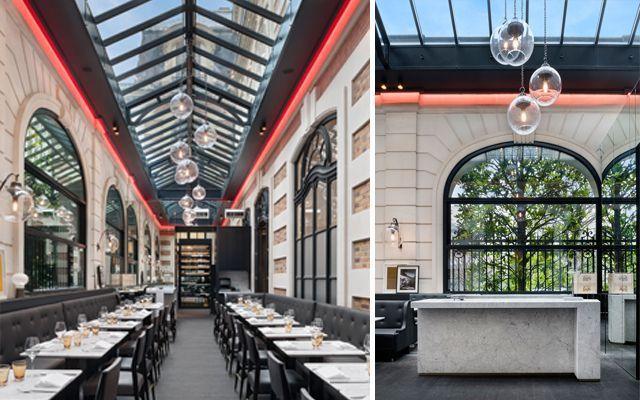 Decoración cafeteria París, diseño restaurante renovado