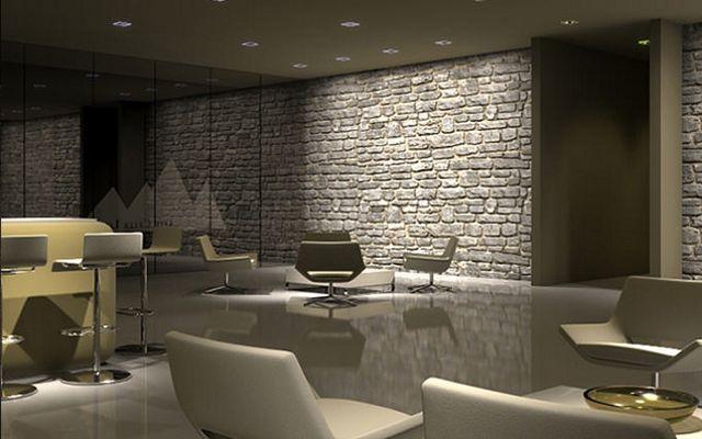 Decoración de paredes iluminadas