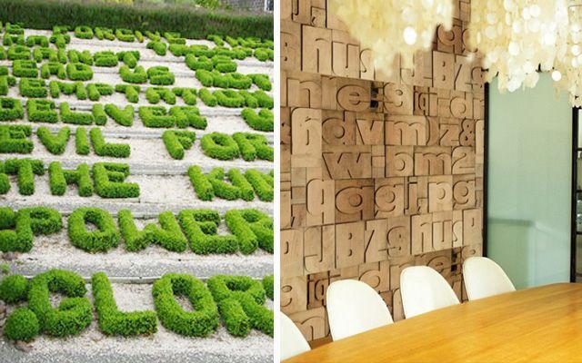 La tipografía en la decoración - Usos creativos