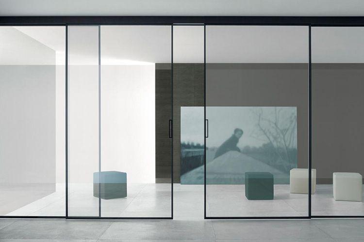 Decoración con puertas correderas de cristal