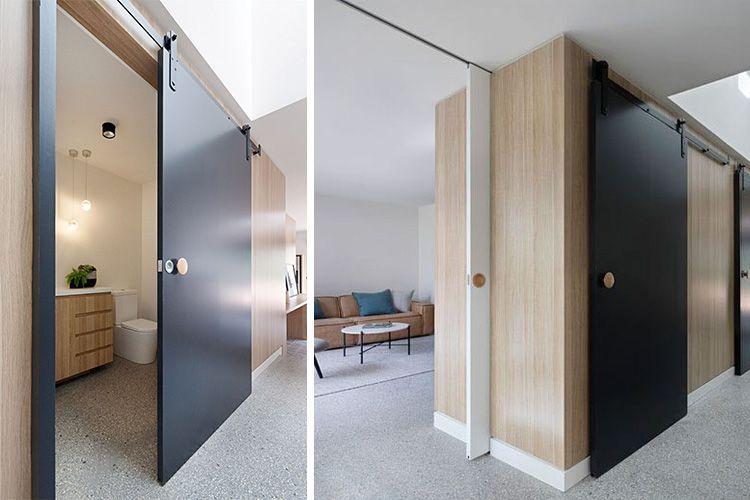 Decoración con puertas correderas de colores