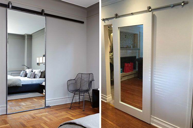 Decoración con puertas correderas de espejo
