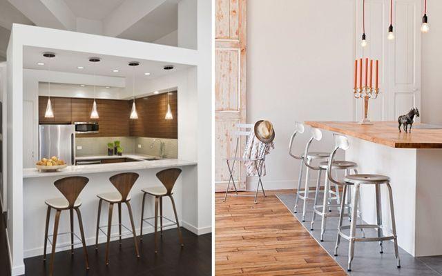 Cocinas con office de estilo contempor neo for Encimeras estrechas