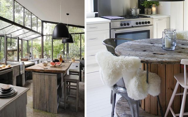 Cómo decorar cocinas con office de estilo contemporáneo