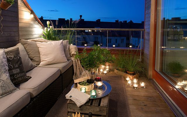 Ideas para decorar terrazas y balcones for Terraza para balcon