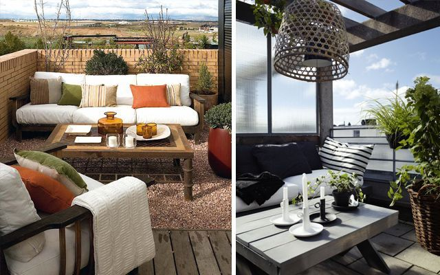 Ideas para decorar terrazas y balcones for Sillones de balcon