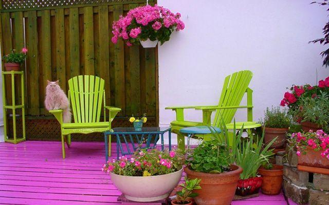 Ideas para decorar terrazas y balcones - Macetas para balcones ...