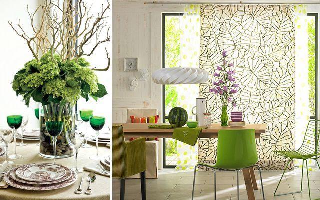 decoracion-comedor-verde