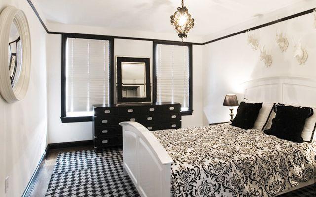 şifonyer ile yatak odası dekorasyonu