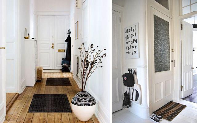 Decoracin de entradas al estilo escandinavo