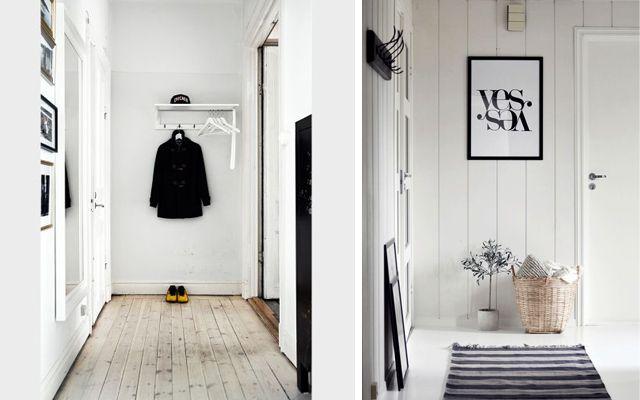 Decoración de entrada de estilo escandinavo