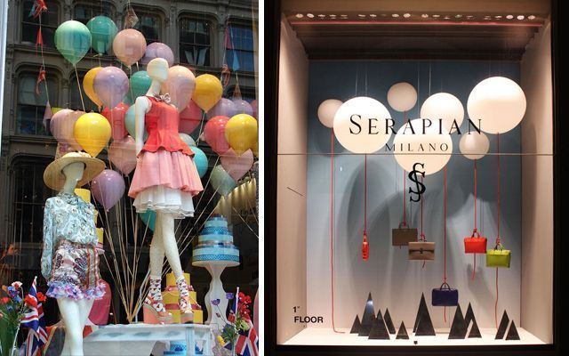 Dise o de escaparates con globos - Aparadores originales ...