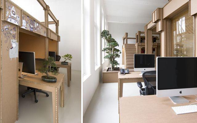 Cómo decorar una oficina en cartón