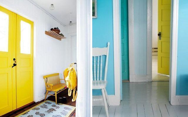 C mo decorar pasillos con las puertas - Ideas para pintar un pasillo ...