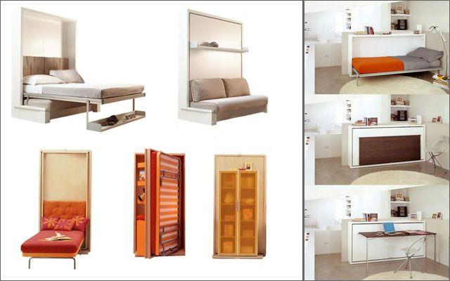 Mueble multifuncional para espacios pequeos