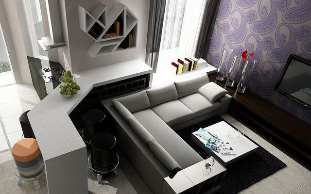 Decoración de salones con papel pintado