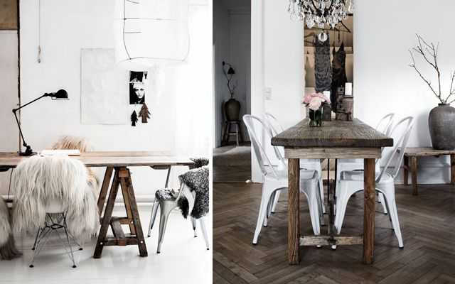 C mo decorar el comedor en estilo rustic chic - Ideas decorar salon comedor ...