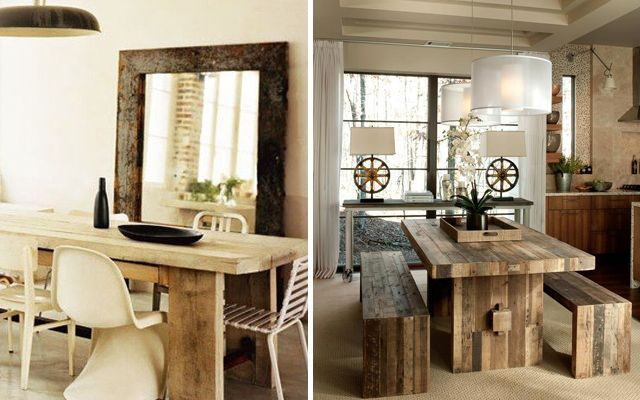 C mo decorar el comedor en estilo rustic chic for Ideas para comedores
