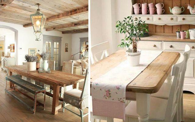 C mo decorar el comedor en estilo rustic chic for Blogs de decoracion moderna