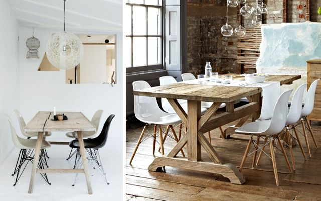 Ideas para decorar comedores con sillas Eames