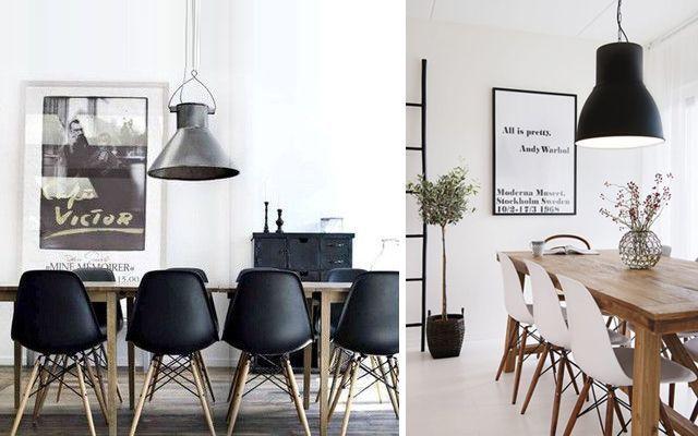 Decoración de comedores con sillas Eames