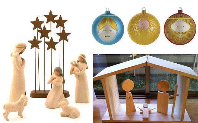 Ideas para decorar con belenes de Navidad modernos