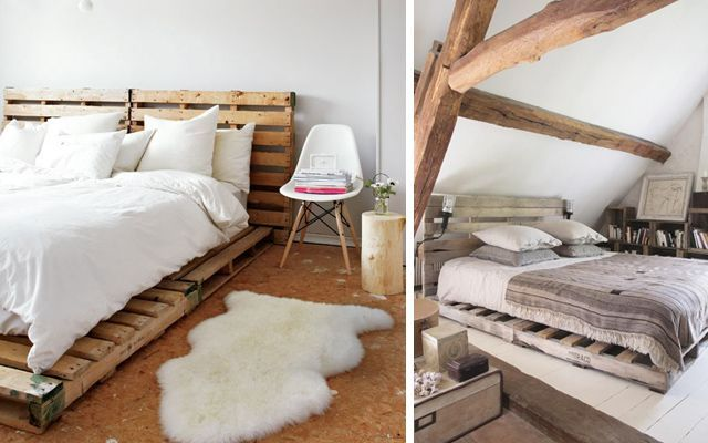 Ideas para decorar dormitorios con pallets Ideas para decorar la casa con tarimas