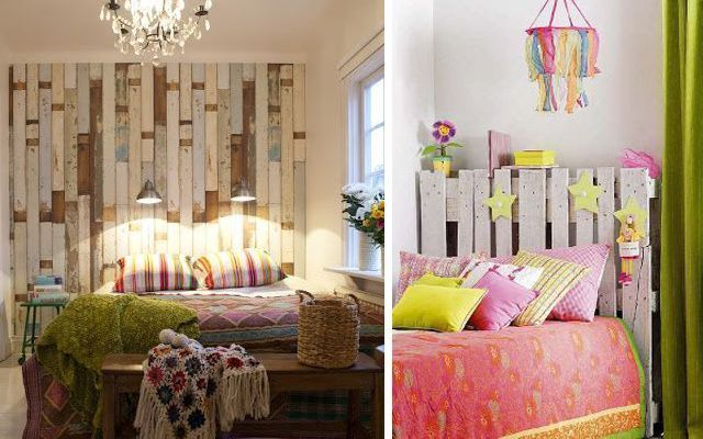Ideas para decorar dormitorios con pallets - Dormitorio decoracion vintage ...