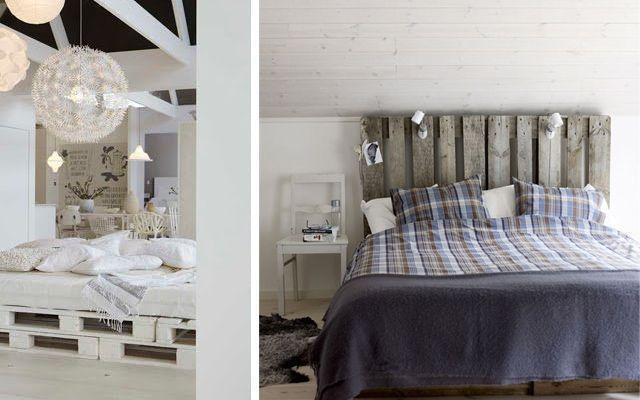 Ideas para decorar dormitorios con pallets