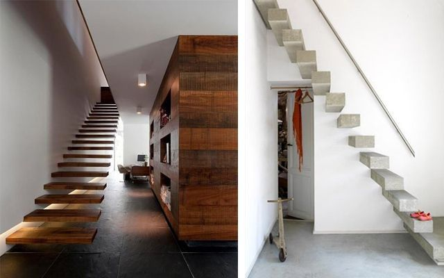 escaleras modernas ideas para decorar con escaleras voladas