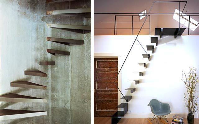 Decoraci n de escaleras voladas for Como hacer gradas de metal
