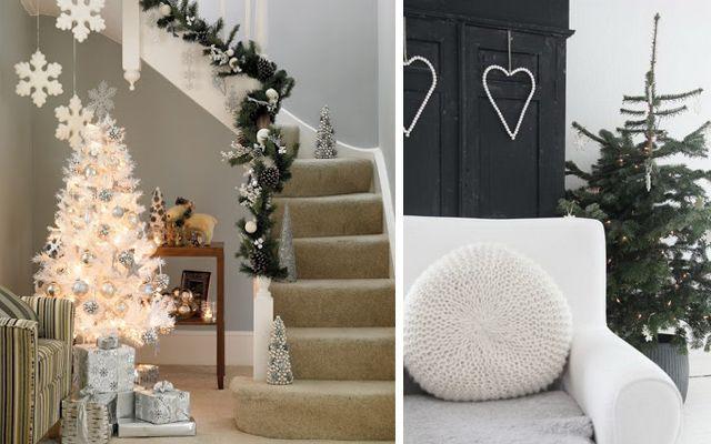 Decoración navideña - Ideas para decorar en Navidad con tonos blancos
