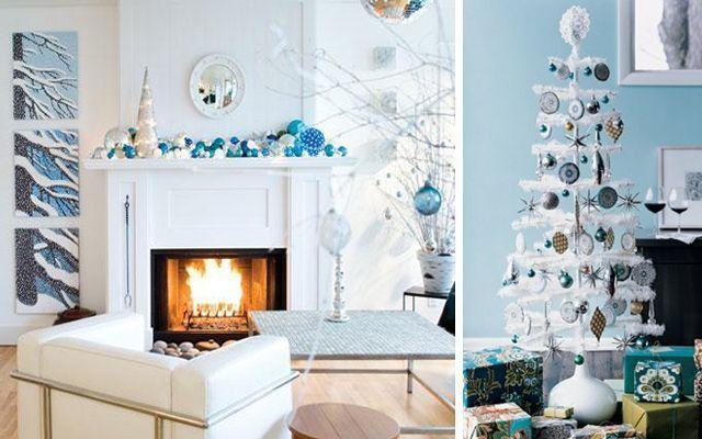 Decoración navideña con un toque de color