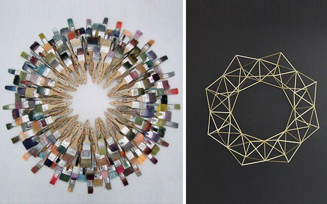 Ideas para decorar en Navidad - Coronas de Navidad modernas