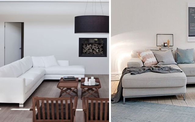 Ideas para decorar salones con sofa chaise longue - Ideas para decorar salones pequenos ...