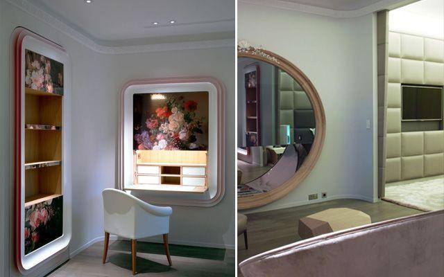 decoración de contrastes de un dúplex