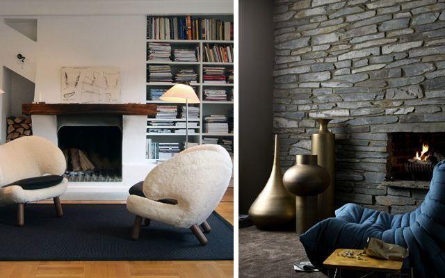 30 ideas para decorar un rincón chimenea