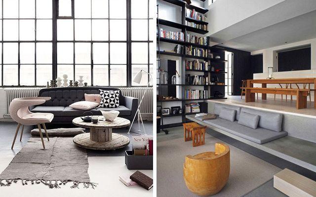 Decoraci n de salones tipo loft for Ideas decoracion loft