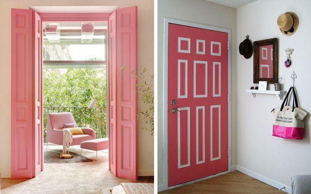 Ideas para decorar con puertas de colores